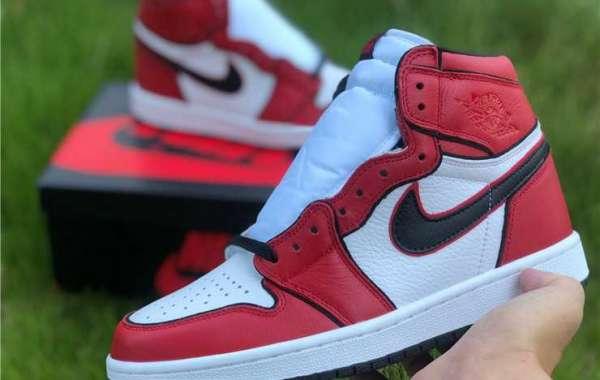 """Men's Air Jordan 1 Retro High OG """"Metallic Red"""" For Cheap 555088-103"""
